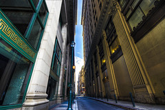 In Between Worlds... (darth_bayne) Tags: philadelphia photoshop buildings centercity canon350d handheld hdr oldnew sigma1020mm 10mm 3xp inbetweenworlds photomatix 2ev0ev2ev darthbayne