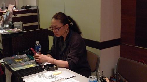 Kobayashi-sensei at work