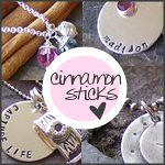 Cinnamon Sticks - Handmade Stamped Silver Jewlery - Customizeable