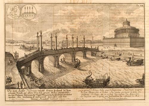 014- Puente de Aetius-Entwurf einer historischen Architektur 1721- © Universitätsbibliothek Heidelberg