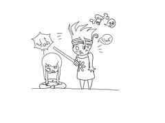 ضرب الحبيب 2 (alferas9kuw) Tags: boy girl photoshop out sketch paint drawing line outline leh say tool tab ليه رسم هع مانجا بينت كده تلوين تخطيط انمي طب ساي