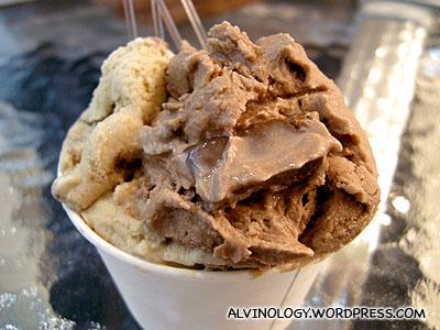 Our double scoop gelato