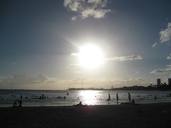 Sunset over Ala Moana Beach, Honolulu