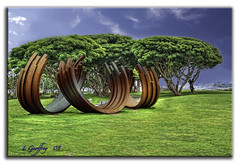 Art (L Geoffroy) Tags: california blue cloud green art grass clouds photoshop sandiego sony scenic h2o hdr seaportvillage sandiegobay cs4 artisticexpression photomatix explored colorefex hdrpool dslra350 dslr350 sonydslra350 lgeof