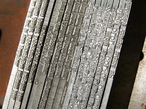 Lignes bloc de Linotype