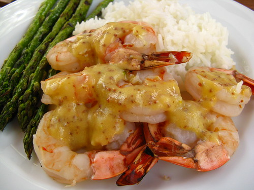 Grilled Shrimp with Mustard Vinegarette