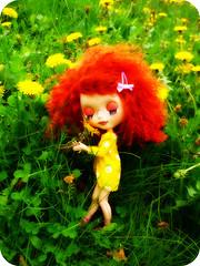 Lillybit sniffin' the sunshine!