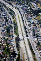 Highways and Byways (Chris Saulit) Tags: california airplane flying flight aerial interstate norcal sanleandro generalaviation i580