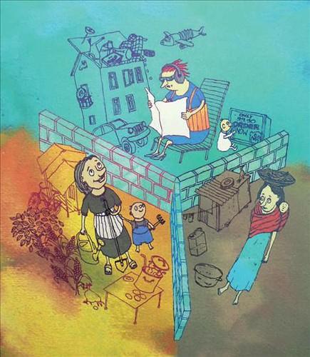 Tres tipos de vida: devoradora de recursos, voluntariamente simple, en la miseria