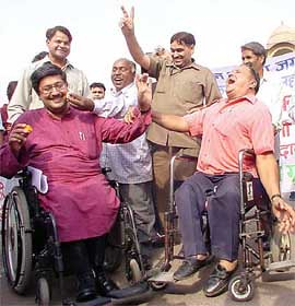World disability day rally on 3rd December 2010
