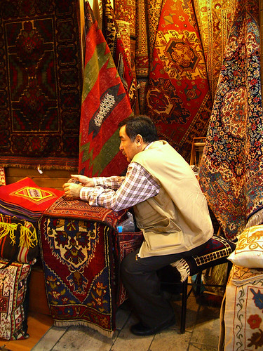 Carpet salesman, Grand Bazaar