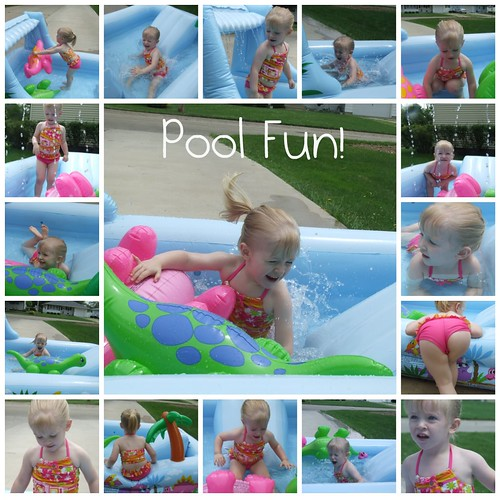 Bree in the pool collage