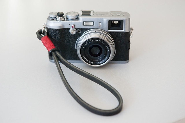 The Gordy wrist strap on my X100