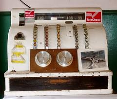 cash register: used to be at Bob's Locker Beef (missjenn) Tags: money retail duck antique beef meat cash butcher locker change register telecheck