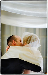 Wrapped in Love (Ryan Brenizer) Tags: nyc newyorkcity november wedding love groom bride nikon kiss manhattan ceremony gothamist 2008 yaleclub jewishwedding 70200mmf28gvr sharonanddavid weddingphotojournalism d700