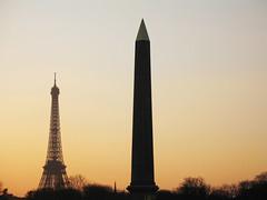 Paris, un soir de dcembre (tangi_bertin) Tags: paris eiffel dcembre obelisque