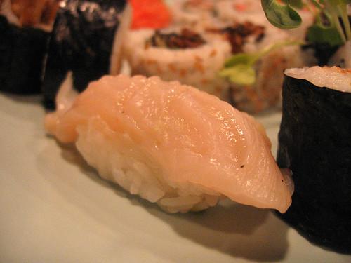 Geoduck nigiri sushi