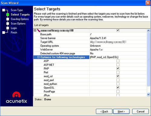 Acunetix Web Vulnerability Scanner - Scan Target