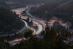 traffic flow (jpaulus) Tags: longexposure oakland highway traffic hills 24 caldecott