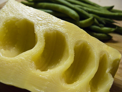 bamboo shoot, sliced. It looks like a sliced pineapple