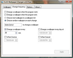 EvJO Wallpaper Changer - Change Frequency