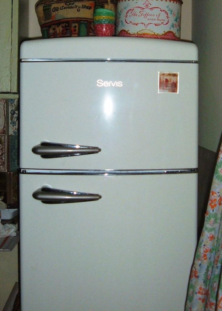 New fridge freezer in retro style