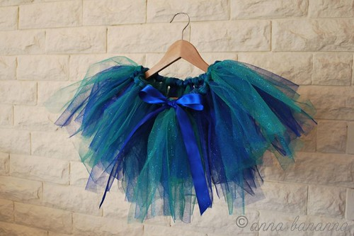 green blue tutu ribbon