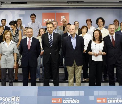 Nueva ejectuva federal socialista, en julio de 2007.