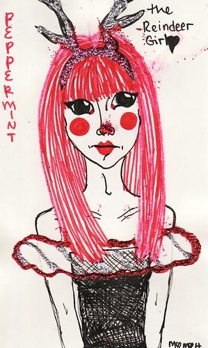 Peppermint the Reindeer Girl