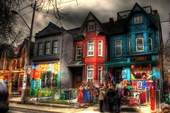 Kensington Market (Jason Wighton) Tags: street people house toronto color colour building clouds store clothing market kensington hdr