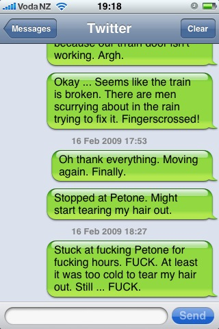 Train Breakdown! Twitter Breakdown!