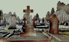 Graveyard (Wire_cat) Tags: cemetery graveyard psp graves gravestones otw manipulatedimage rushden platinumphoto wirecat