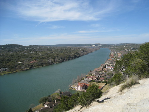 The Colorado River from Mt Bonnell