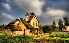 French Cottage (` Toshio ') Tags: trees chimney sky paris france history clouds high europe village dynamic farm cottage culture romance versailles resolution romantic historical soe hdr europeanunion marieantoinette toshio louisxvi queenshamlet abigfave goldstaraward petittrainon