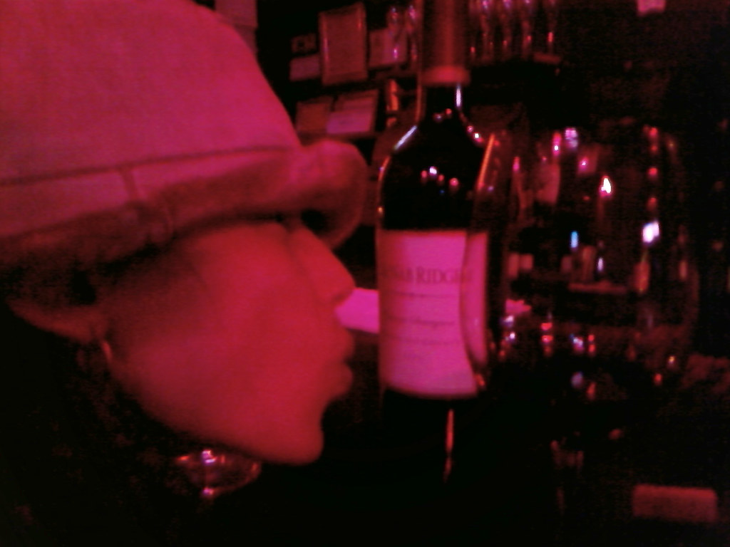 Phone Shot: Jessica at the Wine Bar