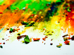 Happy Holi :) (Anish Krishnan [anishk.in]) Tags: red india color colour colors festival painting paint flickr colours indian sony cybershot crayons holi h7 explored colourartaward malayalikkoottam pcacolors  colorfullaward