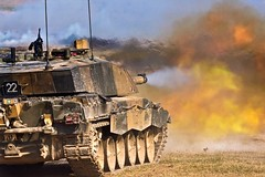 Challenger 2 (shish0r) Tags: canon army fire eos tank military smoke explosion cannon shooting fighting mbt bang britisharmy salisburyplain gunfire challenger2 40d
