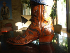 Handmade Lucchese Boots in the morning