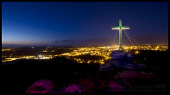 Happy Easter, Redruth (Light Painted Cornwall) Tags: light lightpainting castle pool tristan night dark painting easter lights evening rocks long exposure cornwall cross fort hill nighttime granite brea redruth barratt lightpaint carn lightpainted lightpaintedcornwall