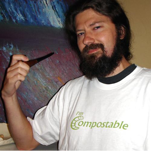 I'm Compostable - White Organic Cotton T-Shirt