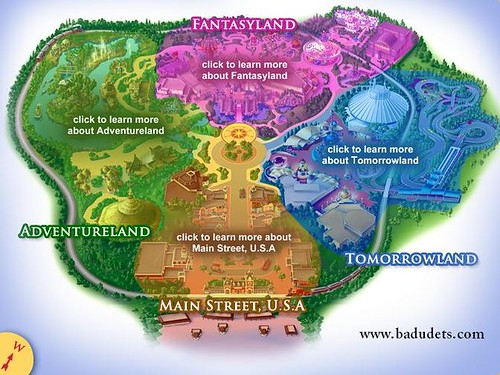 Disneyland+map+of+park
