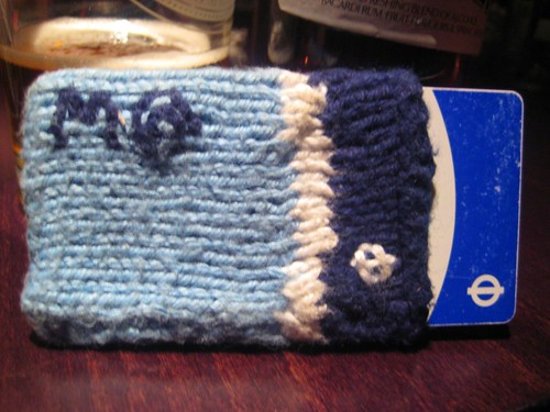 M@'s knitted Oyster Card Holder