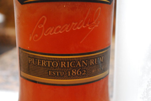 Bottle of rum from Puerto Rico