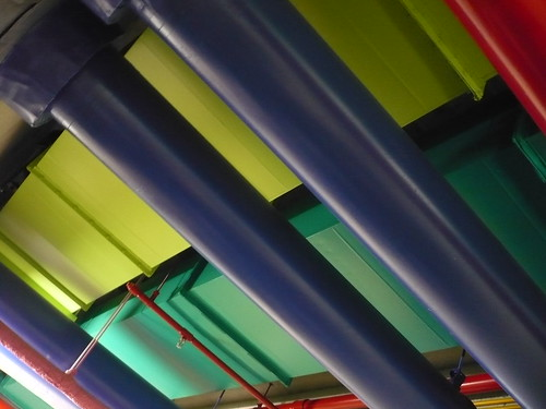 Colourful pipework