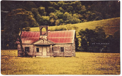 On the Prairie (isayx3) Tags: school house texture canon vintage eos cabin post charlotte retro prairie process postprocess 80mm tiltshift 40d ppfriday ianwedlock