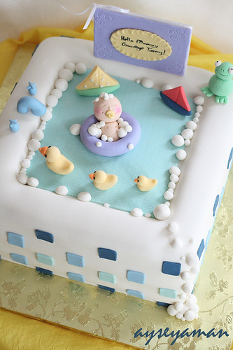 Baby Shower Bathtub Cake