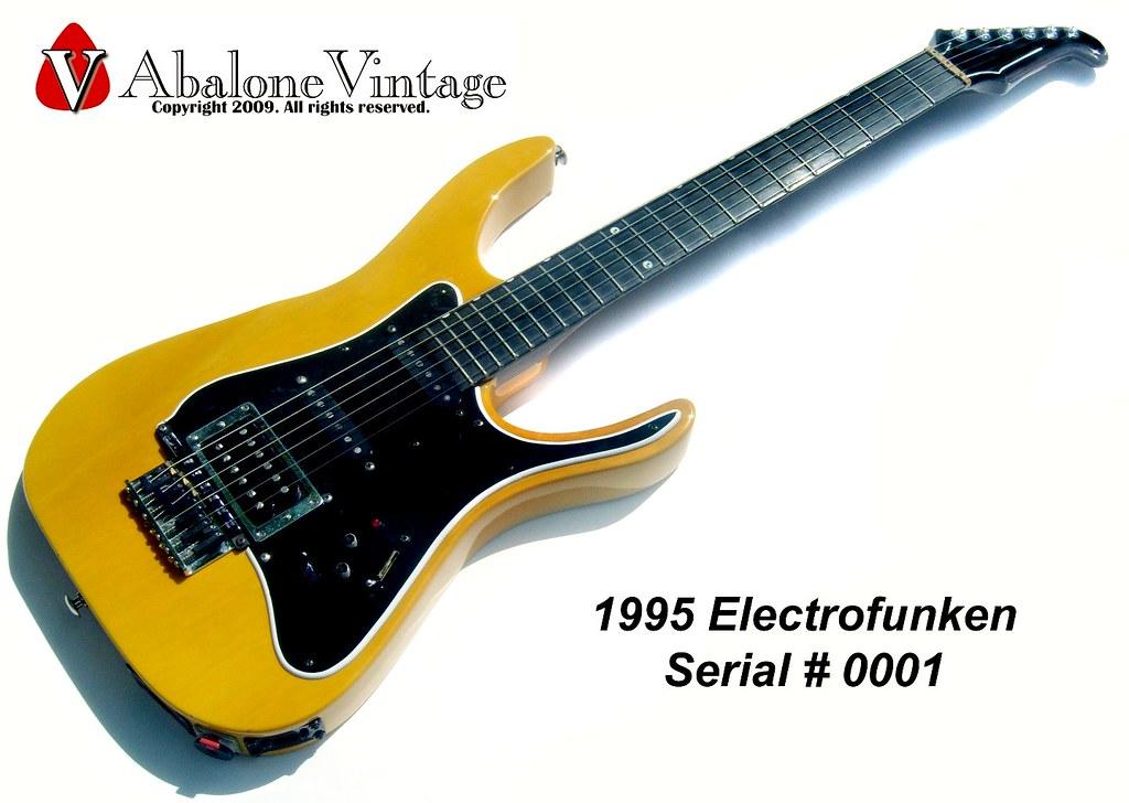 Electrofunken Prototype Guitar #0001. Made in 1995