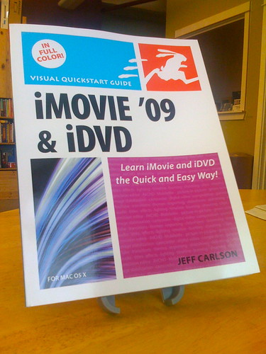 1st Author Copy of My iMovie '09 Book!