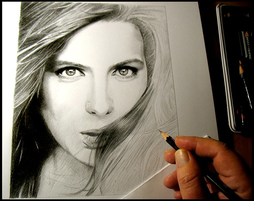 Kate Beckinsale. work in progress