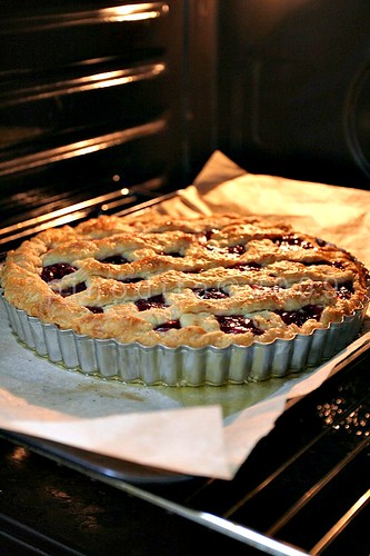 Cherry Pie Fresh from the Oven